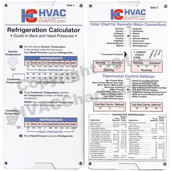 Airserco Refrigeration Calculator, Hermetic Motor Connections